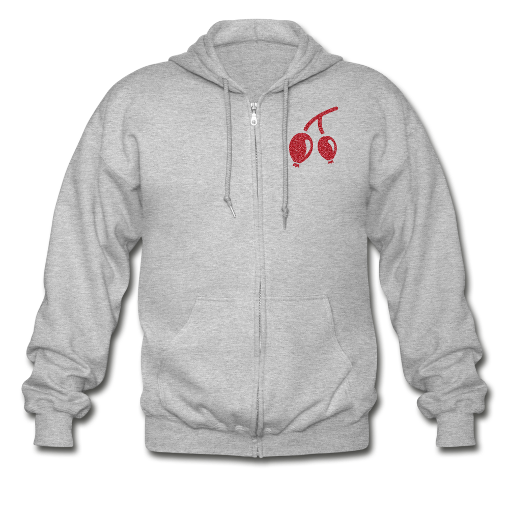 Rosehips Heavy Blend Adult Zip Hoodie - heather gray