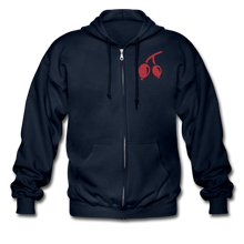 Load image into Gallery viewer, Rosehips Heavy Blend Adult Zip Hoodie - navy