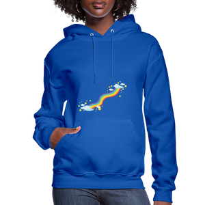 Rainbow Women's Hoodie - royal blue