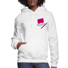 Load image into Gallery viewer, Cassette Pencil Women's Hoodie - white