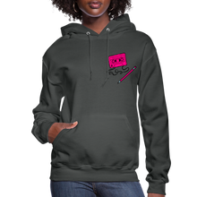 Load image into Gallery viewer, Cassette Pencil Women's Hoodie - asphalt