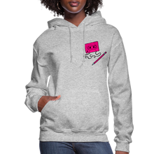 Load image into Gallery viewer, Cassette Pencil Women's Hoodie - heather gray