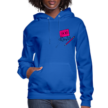 Load image into Gallery viewer, Cassette Pencil Women's Hoodie - royal blue