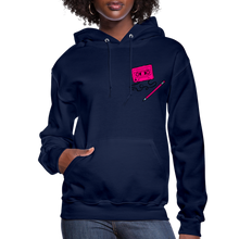 Load image into Gallery viewer, Cassette Pencil Women's Hoodie - navy