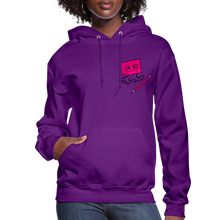Load image into Gallery viewer, Cassette Pencil Women's Hoodie - purple