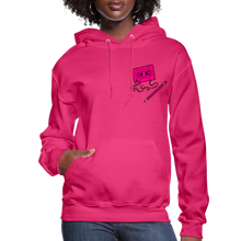 Load image into Gallery viewer, Cassette Pencil Women's Hoodie - fuchsia