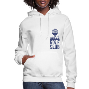 Golf Club Women's Hoodie - white