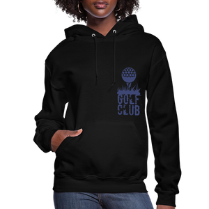 Golf Club Women's Hoodie - black