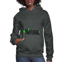 Load image into Gallery viewer, Natural Women's Hoodie - asphalt