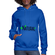 Load image into Gallery viewer, Natural Women's Hoodie - royal blue