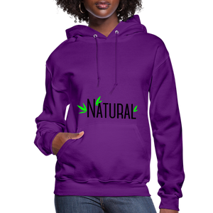 Natural Women's Hoodie - purple