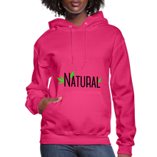 Load image into Gallery viewer, Natural Women's Hoodie - fuchsia