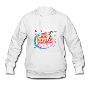 Shake It Up Women's Hoodie - white