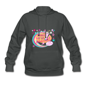 Shake It Up Women's Hoodie - asphalt