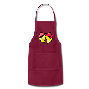 Bells Adjustable Apron - burgundy