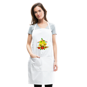 Christmas Decorations Adjustable Apron - white