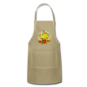 Christmas Decorations Adjustable Apron - khaki