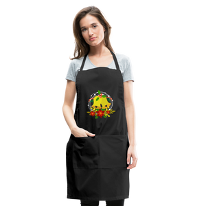Christmas Decorations Adjustable Apron - black