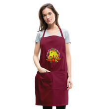 Load image into Gallery viewer, Christmas Decorations Adjustable Apron - burgundy