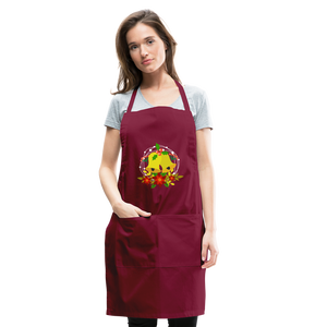 Christmas Decorations Adjustable Apron - burgundy