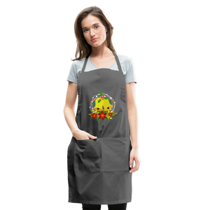 Christmas Decorations Adjustable Apron - charcoal