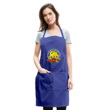 Load image into Gallery viewer, Christmas Decorations Adjustable Apron - royal blue
