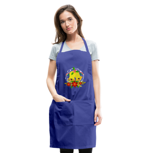 Christmas Decorations Adjustable Apron - royal blue