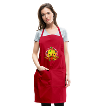 Load image into Gallery viewer, Christmas Decorations Adjustable Apron - red