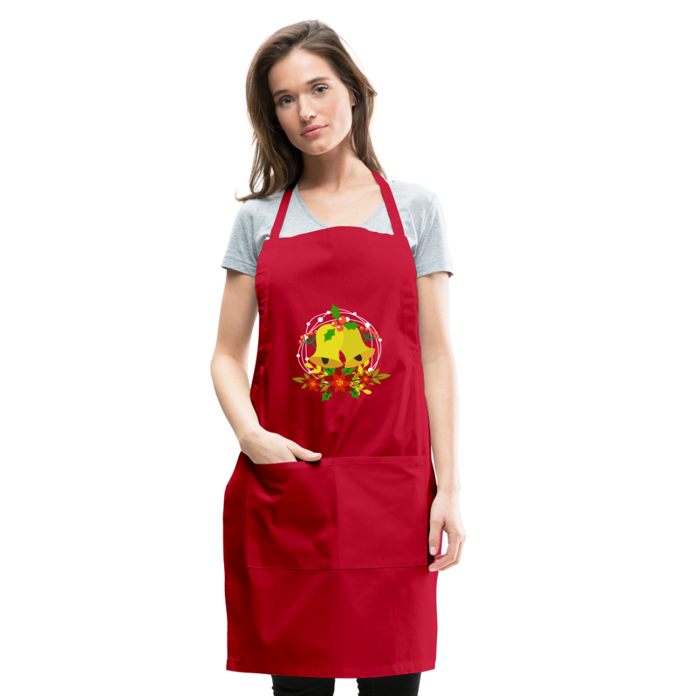 Christmas Decorations Adjustable Apron - red