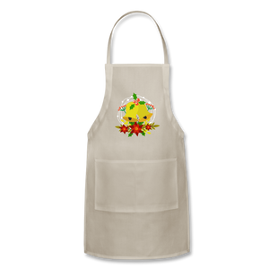 Christmas Decorations Adjustable Apron - natural