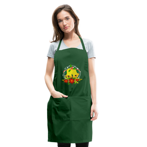 Christmas Decorations Adjustable Apron - forest green