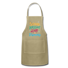 Load image into Gallery viewer, Shine Bright Adjustable Apron - khaki