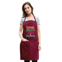 Load image into Gallery viewer, Shine Bright Adjustable Apron - burgundy