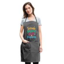 Load image into Gallery viewer, Shine Bright Adjustable Apron - charcoal