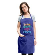 Load image into Gallery viewer, Shine Bright Adjustable Apron - royal blue
