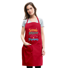 Load image into Gallery viewer, Shine Bright Adjustable Apron - red