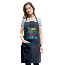 Load image into Gallery viewer, Shine Bright Adjustable Apron - navy