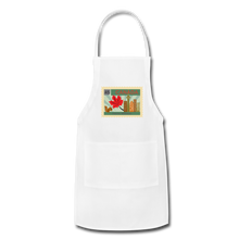 Load image into Gallery viewer, Canada Post Stamp Adjustable Apron - white