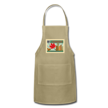 Load image into Gallery viewer, Canada Post Stamp Adjustable Apron - khaki
