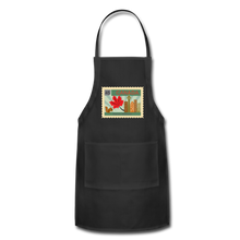 Load image into Gallery viewer, Canada Post Stamp Adjustable Apron - black