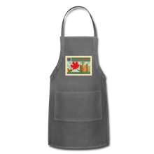 Load image into Gallery viewer, Canada Post Stamp Adjustable Apron - charcoal