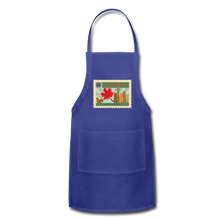 Load image into Gallery viewer, Canada Post Stamp Adjustable Apron - royal blue