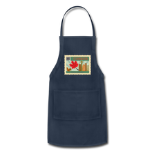 Load image into Gallery viewer, Canada Post Stamp Adjustable Apron - navy