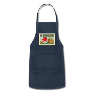 Canada Post Stamp Adjustable Apron - navy
