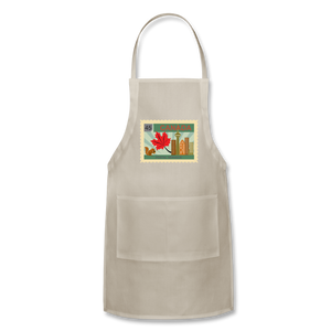 Canada Post Stamp Adjustable Apron - natural