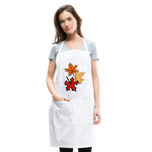 Load image into Gallery viewer, Maple Leaves Adjustable Apron - white