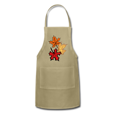 Load image into Gallery viewer, Maple Leaves Adjustable Apron - khaki