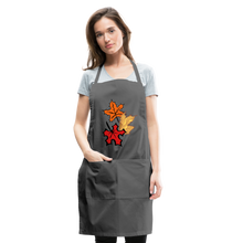 Load image into Gallery viewer, Maple Leaves Adjustable Apron - charcoal