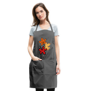 Maple Leaves Adjustable Apron - charcoal