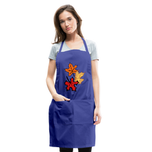Load image into Gallery viewer, Maple Leaves Adjustable Apron - royal blue